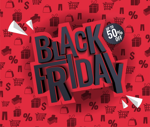Black friday sale illustration Premium Vector