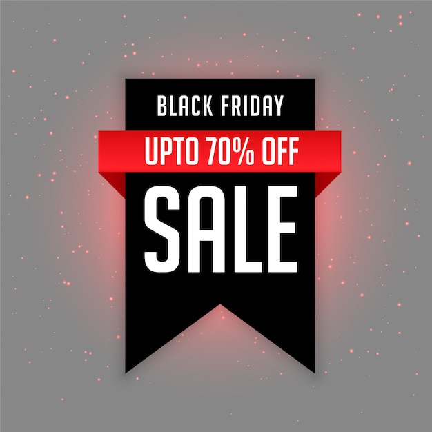 Black friday sale label with offer details Free Vector