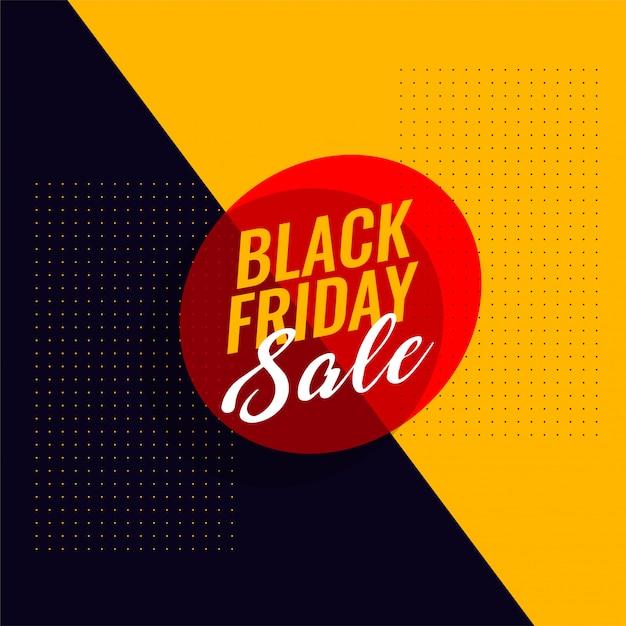 Black friday sale modern banner template Free Vector