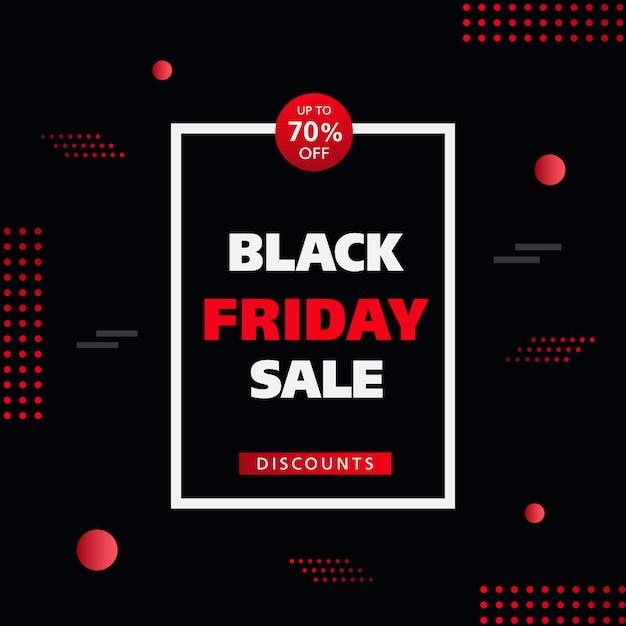 Black friday sale off discount background. Premium Vector
