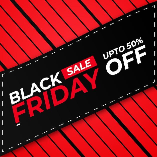 Black friday sale offer creative banner Premium Vector