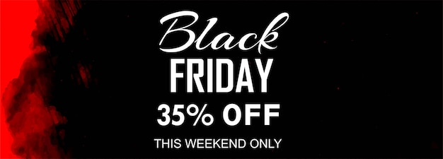 Black friday sale poster or banner Free Vector