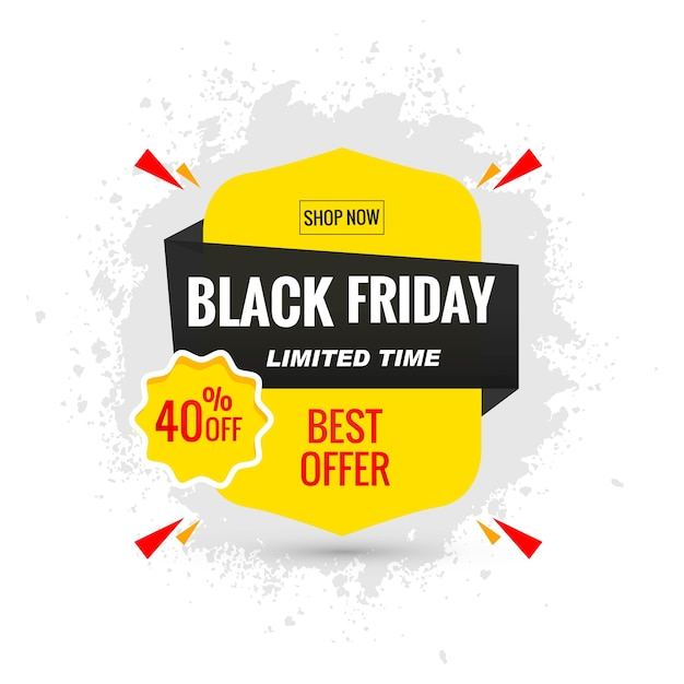 Black friday sale poster layout Free Vector