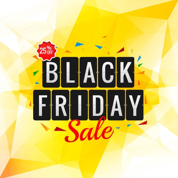 Black friday sale poster for polygon Free Vector