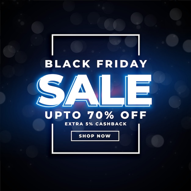 Black friday sale poster with offer details banner Free Vector