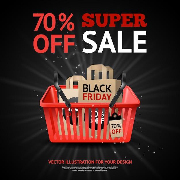 Black friday sale print Free Vector