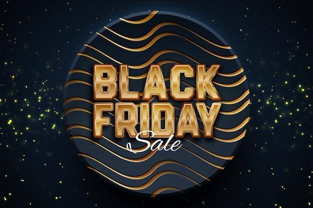 Black friday sale promotion banner template on dark background. Premium Vector