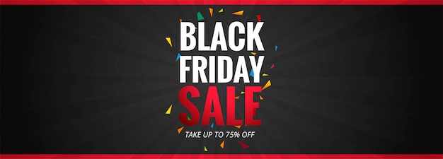 Black friday sale promotion poster or banner template Free Vector