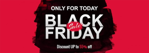 Black friday sale promotion poster or banner Free Vector