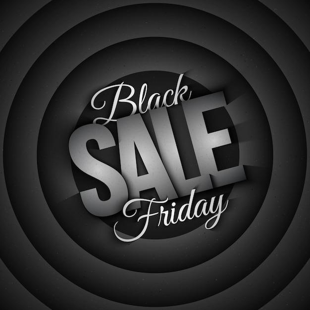 Black friday sale retro background Premium Vector