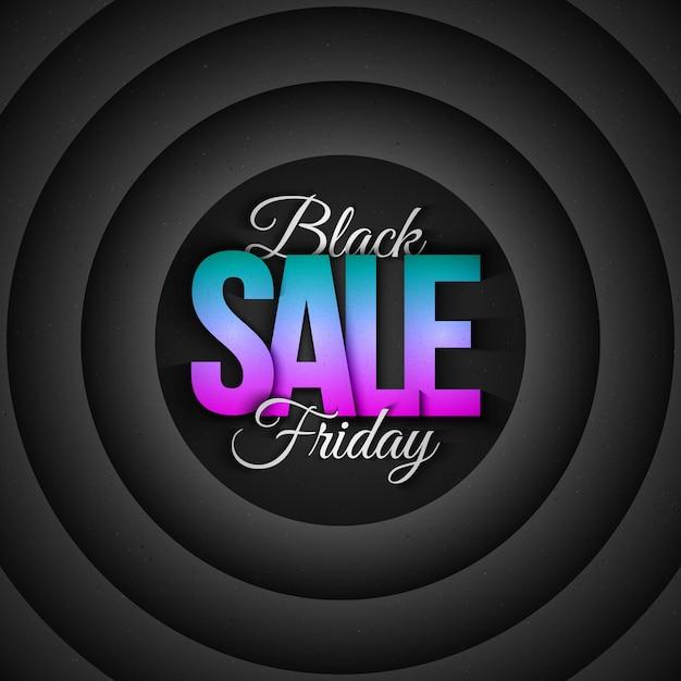 Черная пятница распродажа ретро Premium векторы