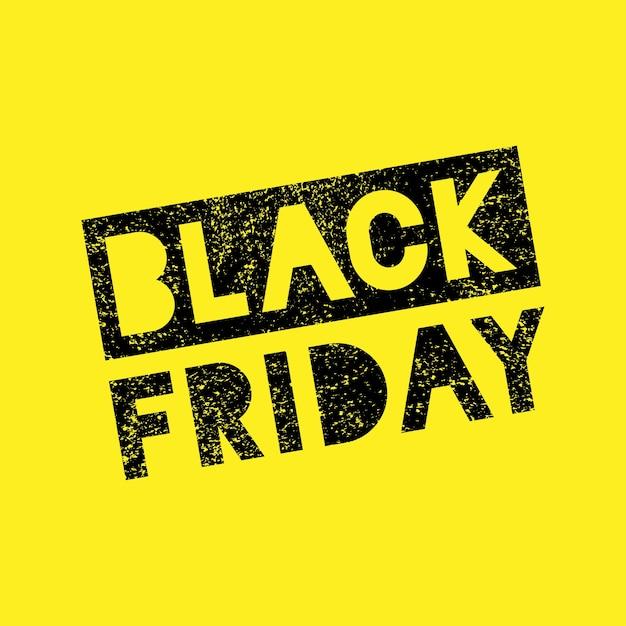 黒い金曜日販売落書きグランジスタンプバナー Premiumベクター