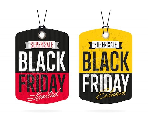 Black friday sale sticker vector isolated Premium Vector