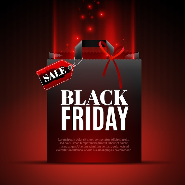 Black friday sale template Premium Vector