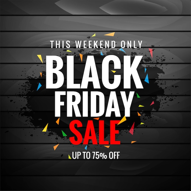 Black friday sale for texture layout Free Vector