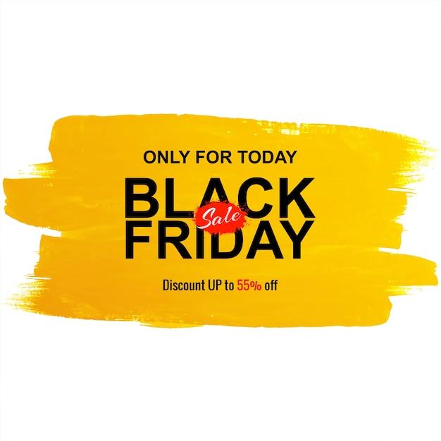 Vendita venerdì nero per sfondo pennello acquerello Vettore gratuito
