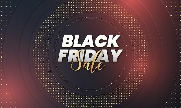 Черная пятница продажа с абстрактным 3d роскошным фоном Бесплатные векторы