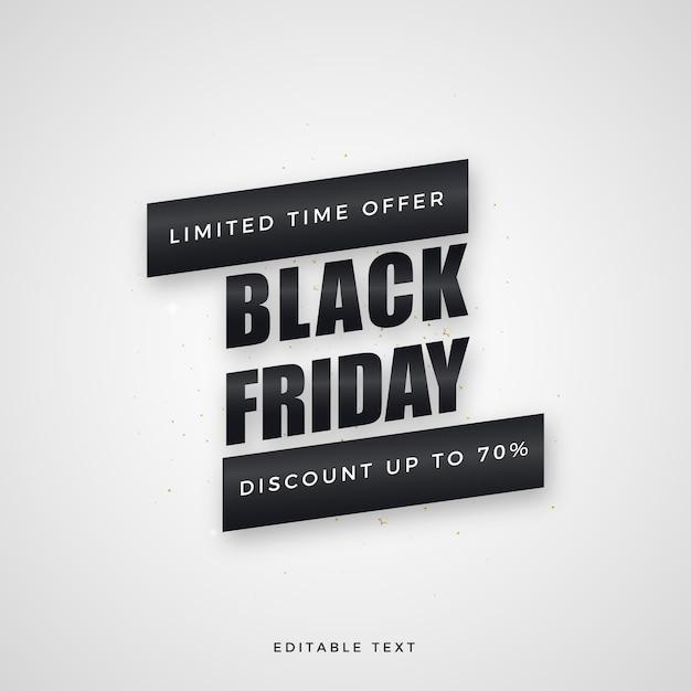 ブラックフライデーセール、エレガントな黒の文字。 Premiumベクター