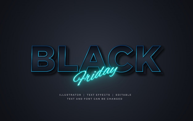 Black friday sale with light text effect Premium Vector