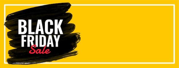 Vettore di banner web largo giallo vendita venerdì nero Vettore gratuito