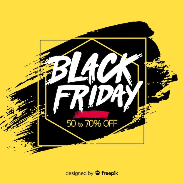 Black friday sales background with typography Free Vector