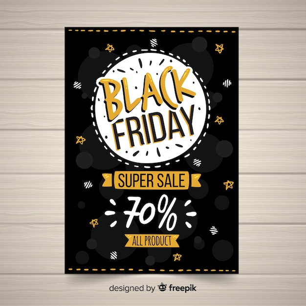 black friday sales banner template vector free download