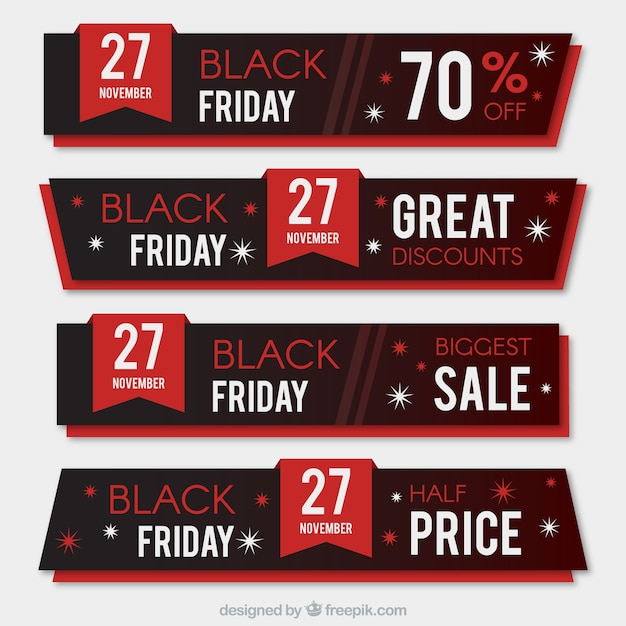 Black friday sales banners Vector | Free Download