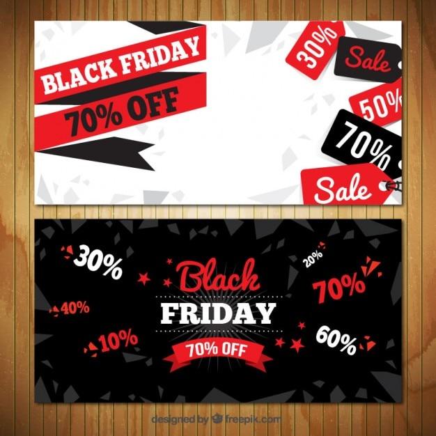 Black friday sales banners Vector | Premium Download