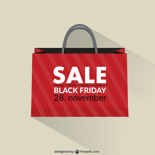 Black Friday sales shopping bag Vector | Free Download