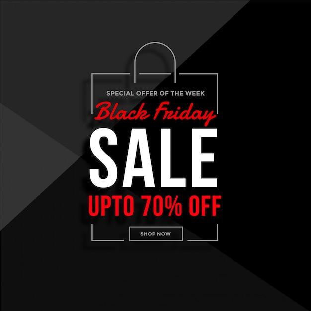 Black friday shopping bag sale Free Vector