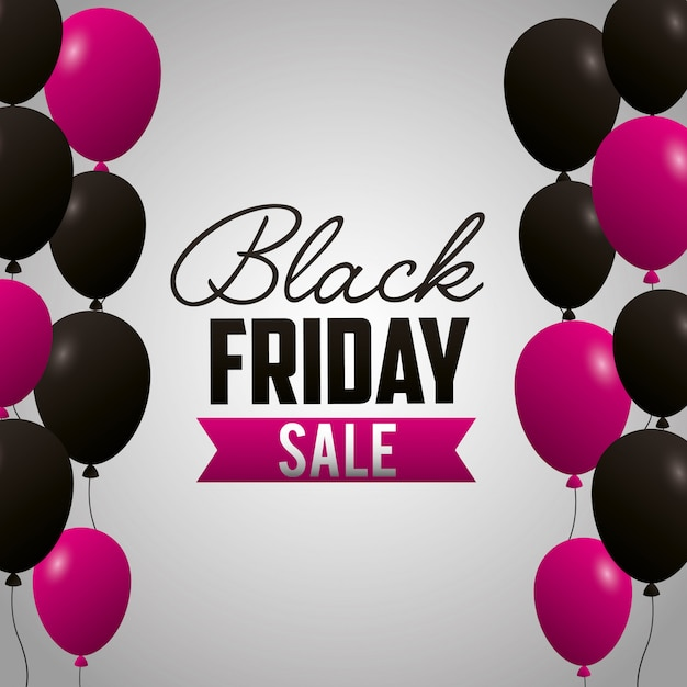 Black friday shopping sales background Free Vector
