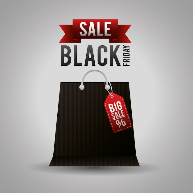 Black friday shopping sales Free Vector