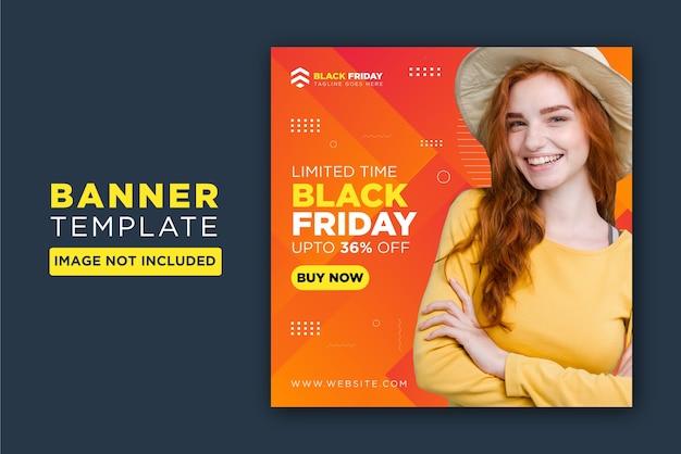 Black friday social media post design template Premium Vector