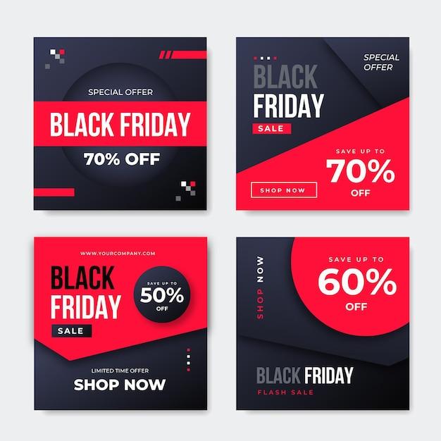 Free Vector Black Friday Social Media Post