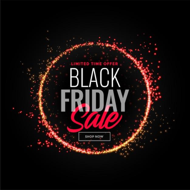 Black friday sparkles sale Free Vector