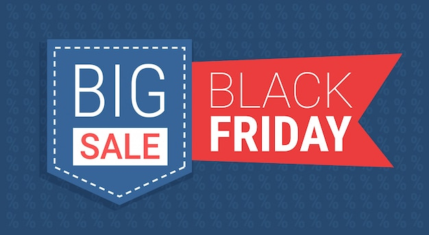 Black friday special offer big sale poster holiday discount flyer bookmark tag promotion hot price  flat Premium Vector
