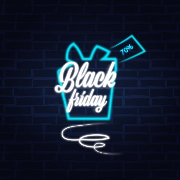 ブラックフライデー特別オファープロモーションマーケティングホリデーショッピングコンセプトバナー Premiumベクター