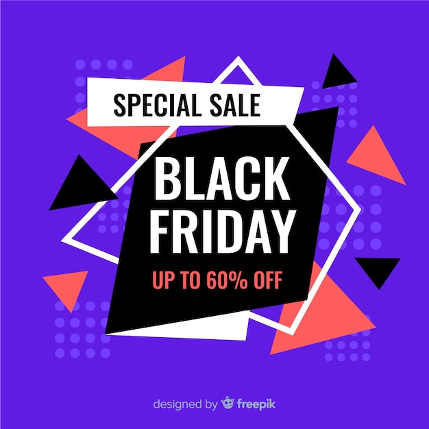 Black friday special sale in flat design Free Vector