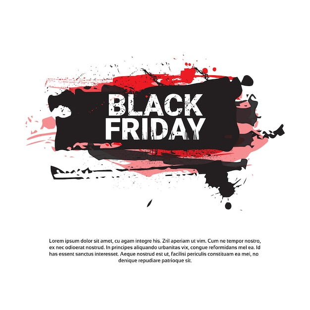 Black friday square flyer big holiday sale banner Premium Vector