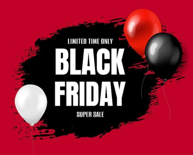 그라디언트 메쉬와 검은 금요일 슈퍼 판매 포스터, 프리미엄 벡터