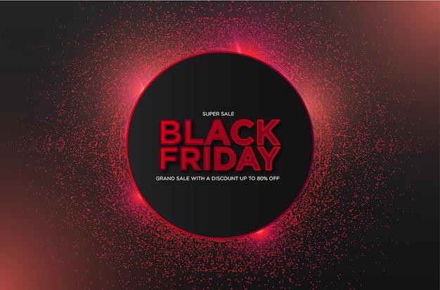 Черная пятница супер распродажа с абстрактными 3d частицами Бесплатные векторы