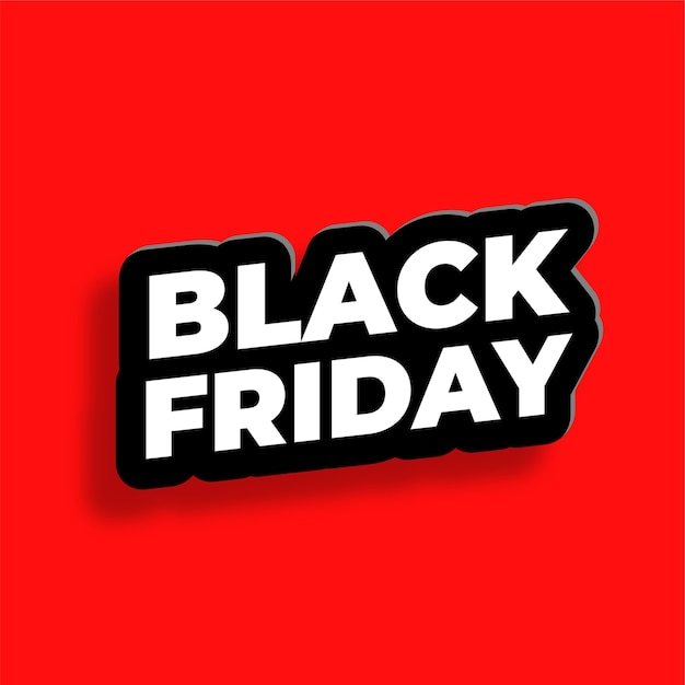 Black friday text effect in 3d style background Free Vector