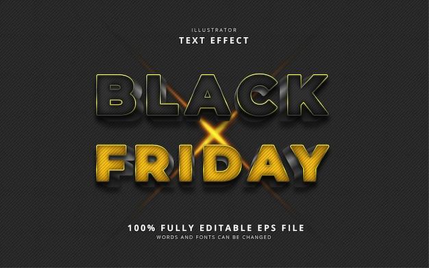 Текстовый эффект черной пятницы Premium векторы