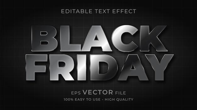 블랙 프라이데이 타이포그래피 편집 가능한 텍스트 효과 프리미엄 벡터