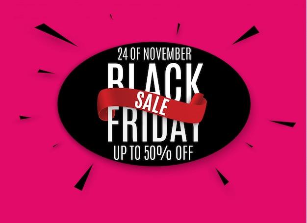 Black friday. web banner, logo, emblem and label. Premium Vector