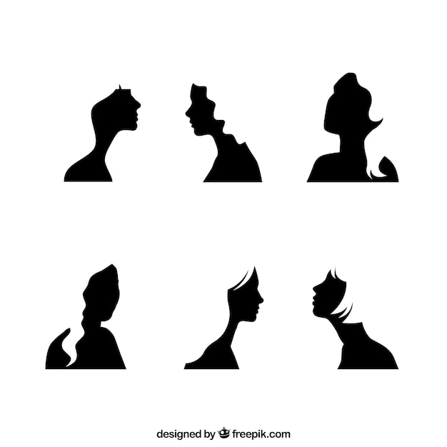 black girl face silhouettes vector free download rh freepik com face silhouette vector download woman face silhouette vector free download