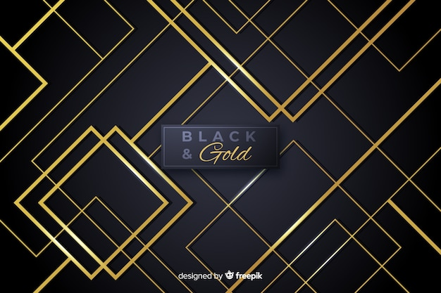 Black and gold abstract background Free Vector