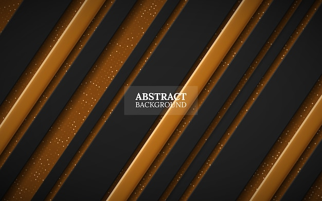 Black and gold abstract background Premium Vector