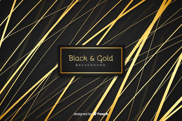 Black and gold background Free Vector