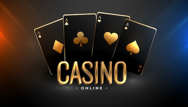 Free Vector | Black and gold casino playing cards background